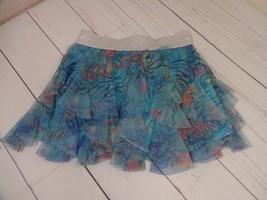Eyeshadow Girls Girls Glitter Waistband Floral Skort Size L (14) - A1386 - $8.78