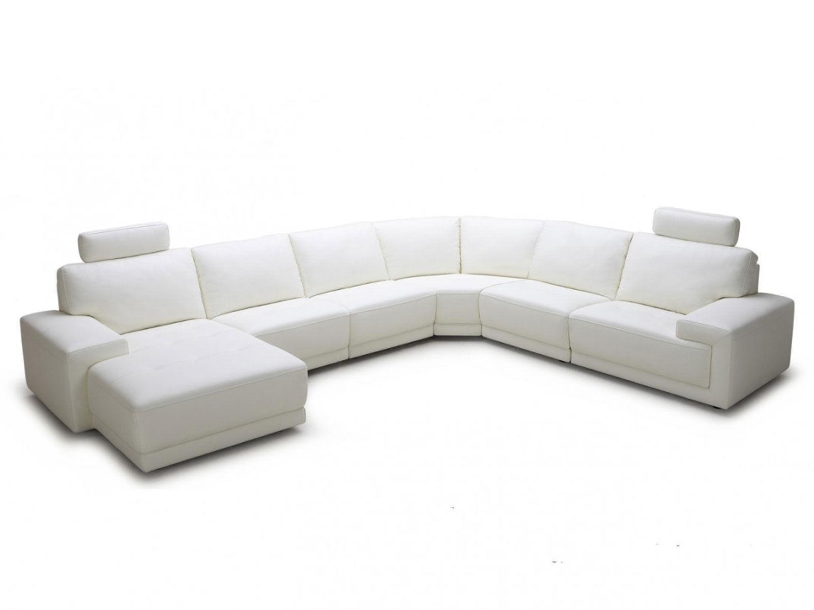 Lucerna New Modern White Eco Leather Living Room Set Sofa Couch Chaise Sectional