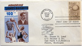 November 6, 1961 First Day of Issue, Ken Boll Cover, James Naismith #21 - $3.69