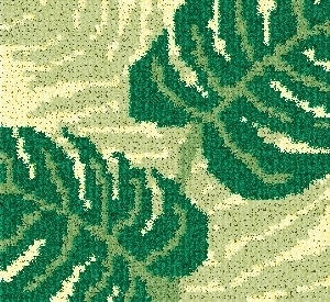 Latch Hook Rug Pattern Chart: FERNS pillow top- EMAIL2u