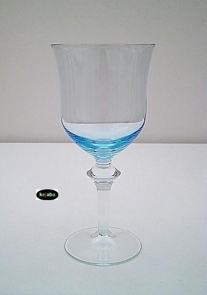 Denby Aurora Blue Stem Water 7 5/8 Inch 12 Oz.