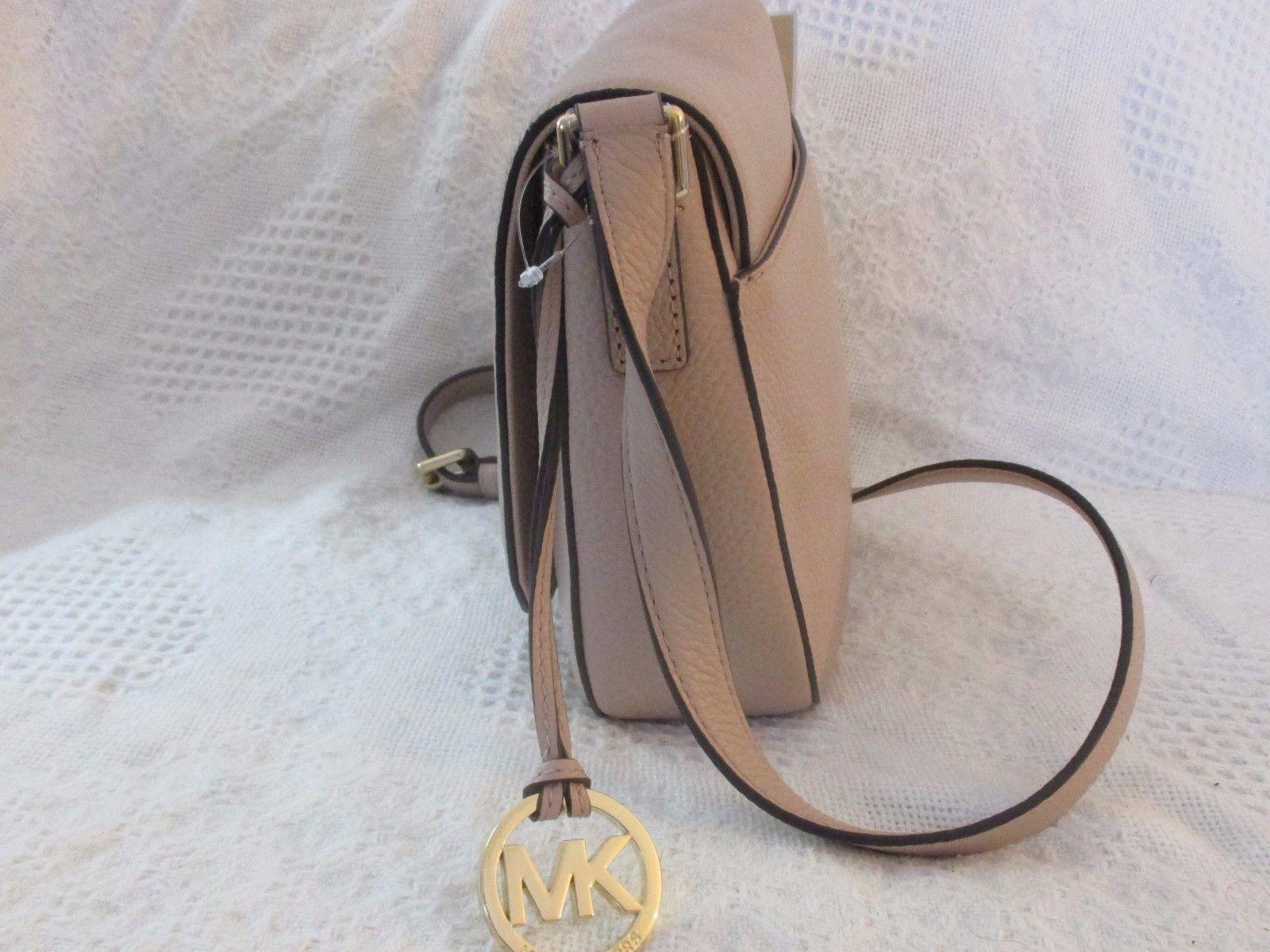 AUTHENTIC MICHAEL KORS Bedford Leather Saddle Shoulder Bag Blush NWT