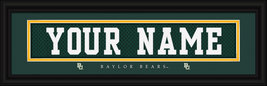 Personalized Baylor Bears Stitched Jersey Framed Print - $39.95