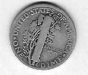 Nice 1920P Mercury Dime