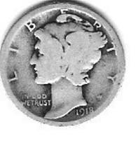 Nice 1918P Mercury Dime - $4.00