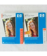 2 Packs HP Premium Photo Paper Glossy 4 x 6 60 Sheets Count 10mil Q1989A... - $17.82