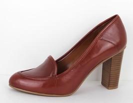 Nine West Zasha women's shoes leather loafer upper heels brown size 7.5 M - $20.29