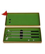 3PCS Mini Golf Clubs Models Ball Pen Golf Balls Flag Set Gift Three Colo... - $14.12