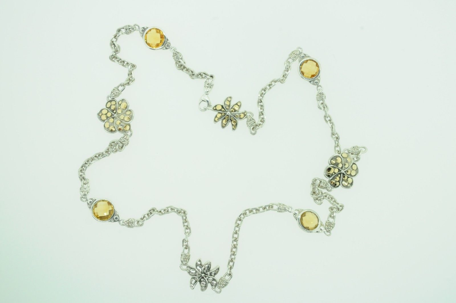 "JOHN HARDY Sterling Silver 18K Yellow Gold Ayu Frangipani Citrine Necklace (24"") image 2"