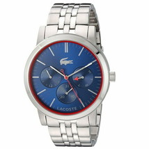 Lacoste Men's 'Metro' Quartz Stainless Steel Watch, Color:Silver-Toned (Model: 2 - $222.53