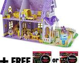 Pretty Purple Dollhouse: 3D Puzzle & Playset In One + FREE Melissa & Doug Scratc