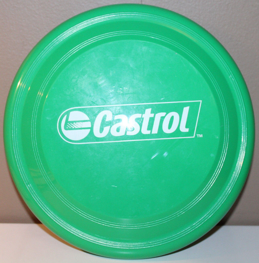 Castrol Oil Green Frisbee Garyline Made in USA