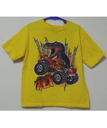 Boys Rudeboyz Yellow T Rex Short Sleeve T Shirt Size 7 - $3.95
