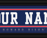 """Personalized Howard University """"Bison"""" Stitched Jersey Framed Print - $33.96"""
