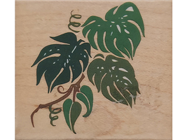 Rubber Stampede Jungle Leaves Wood Mounted Rubber Stamp #Z607E