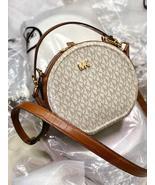 Michael Kors Delaney Medium Logo Canteen Crossbody Bag Vanilla - $185.00