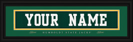 "Personalized Humboldt State University ""Jacks"" Stitched Jersey Framed Print - $39.95"