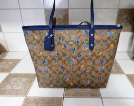 Coach City Zip Tote In Floral Logo Print Coated Canvas F57888 NWT - $137.61