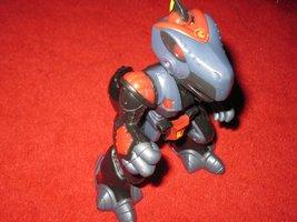2002 Playskool Transformers Go-Bots Action Figure: Mission Earth Black Reptron  - $8.00