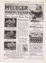 1931 PFLUEGER Fishing Reels & Tackle Print Ad - $9.99