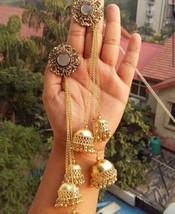 Bollywood Long Jhumka Mirror Stud Classy Oxidised German fashion Partywe... - €14,37 EUR