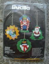 Vintage VERY RARE Bucilla Jeweled Toyland Cutouts Felt Christmas Ornament Sequin - $49.99