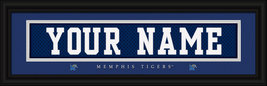 "Personalized University of Memphis ""Tigers"" Stitched Jersey Framed Print - $39.95"