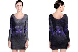 Black Panther Purple Neon Long Sleeve Bodycon Dress - $28.99+