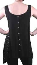 Women's In Gods Hands Black Clemence Studded Tank Top Cami NWT image 2