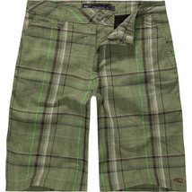 O'Neill Triumph Green Plaid Boys Shorts Size 22 Brand New - $20.90