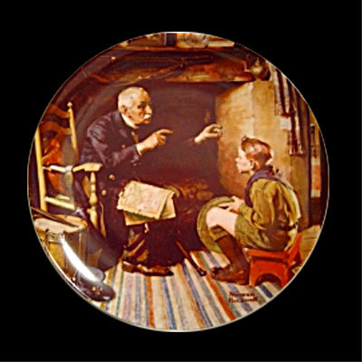 Norman Rockwell collector plate 'The Veteran'