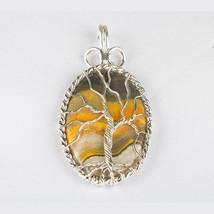 Bumble Bee Jasper Pendant - Sterling silver jasper Jewelry - Unique Pendant - $54.00