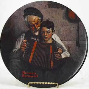 Norman Rockwell collector plate 'The Music Maker'
