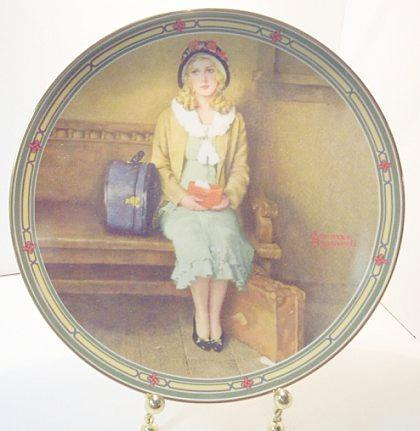 Norman Rockwell collector plate 'A Young Girl's Dream'