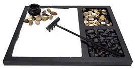 JOICE GIFT Desktop Japanese Zen Garden with Rake 2 tpyes Stones Burner D... - $24.99