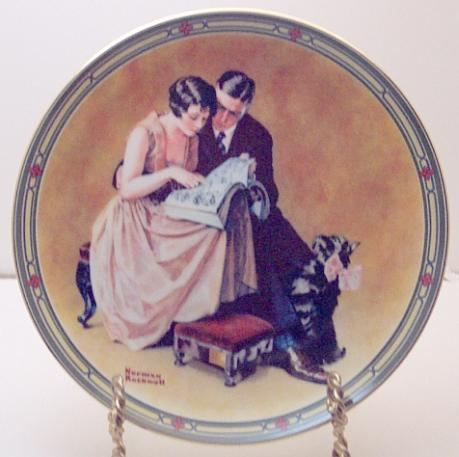 Norman Rockwell collector plate 'A Couple's Commitment'