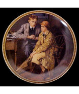 Norman Rockwell collector plate 'Confiding in the Den' - $29.90
