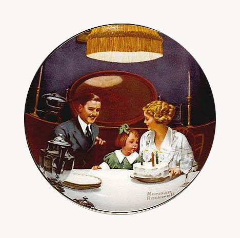 Norman Rockwell collector plate 'Birthday Wish'