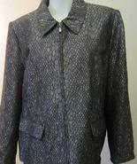 Alfred Dunner Women's Sonoma Valley Jacket Gray 14 NEW - $26.99