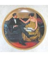 Norman Rockwell collector plate 'Flirting in the Parlor' - $29.90