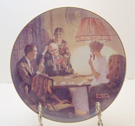 Norman Rockwell collector plate 'This is the Room that Light