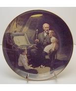 Norman Rockwell collector plate 'Grandpa's Treasure Chest' - $29.90