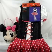 Minnie Mouse Halloween Costume Dress Headpiece Plush Basket Women Small-Medium  - $37.04