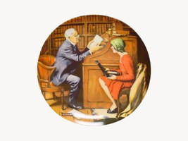 Norman Rockwell collector plate 'The Professor'... - $29.90