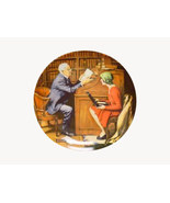 Norman Rockwell collector plate 'The Professor' 1986 - $29.90