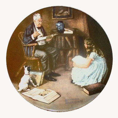 Norman Rockwell collector plate 'The Storyteller'
