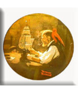 Norman Rockwell collector plate 'The Ship Builder' - $29.90