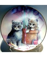 Cat collector plate 'Playful Companions' - $29.80