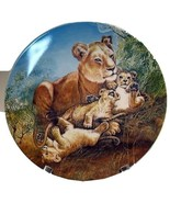 Lion and cubs collector plate  'A Watchful Eye' 1981 - $29.80