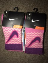Lot Of 2 Packages Girls Crew Socks 13C-3Y - $9.89